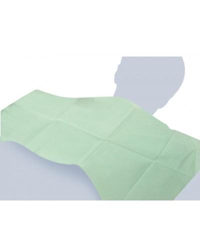 Bavaglio Dentista Verde 46x33 cm 500 pz Impermeabile Monoutile