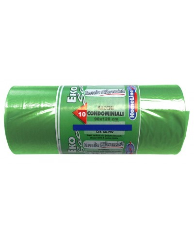 Sacchi Spazzatura Verdi 90x120 cm 10 pz Verolene