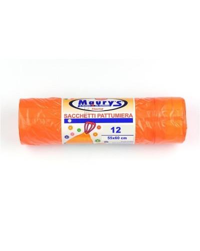 Sacchi Spazzatura Arancioni Profumati per Bagno 55x60 cm 12pz Verolene