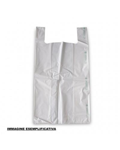 Buste Shoppers Biocompostabili Medie Bianche 27x50 cm 500pz
