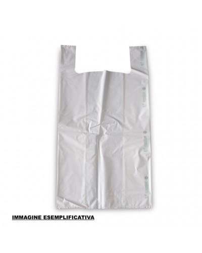 Buste Shoppers Biocompostabili Mini Bianche 23x40 cm 1000pz