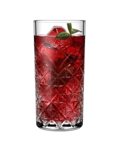 Set 4 Bicchieri Timeless Long Drink da 45cl per Cocktail Pasabache