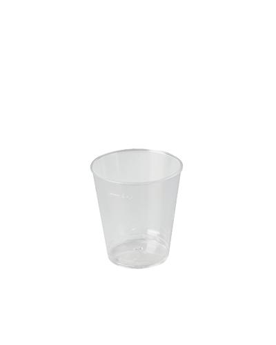 Bicchiere Cicchetto Liquore Tondo In Plastica da 20/30 cc 50 pz Bibo