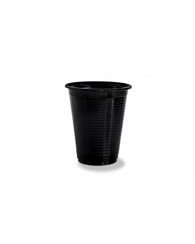 Bicchiere Style Nero in Pet da 200 cc 50 pz Elios