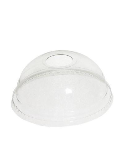 Coperchi Bombati per Bicchiere Pet Trasparente 200/250/350 ml 50 pz