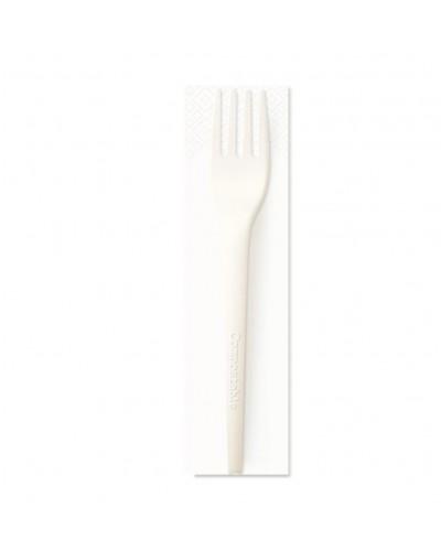 Set Forchetta Style e Tovagliolo 33x33 Biodegradabile 200 pz Brenta