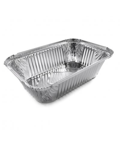 Vaschetta Alluminio per Alimenti 3 Porzioni L Alta 100 pz Contital