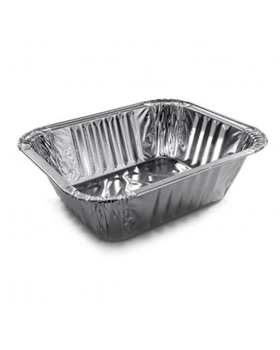 Vaschette Alluminio per Alimenti 2 Porzioni G 15x12,5x4,5 cm 100 pz