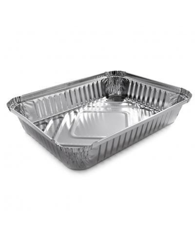 Vaschette Alluminio per Alimenti 4 Porzioni L 22,5x17,5x3,5 cm 100 pz