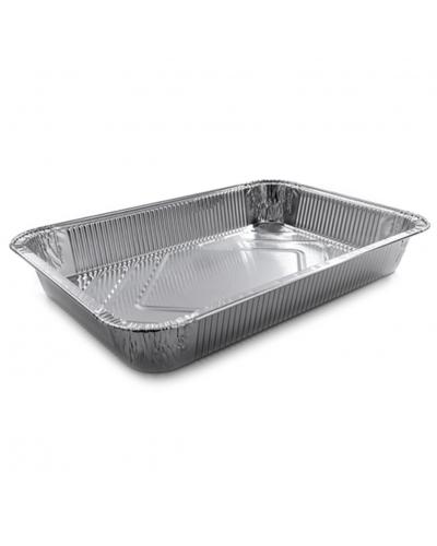 Vaschette Alluminio per Alimenti 6 Porzioni G 31,4x21,3x4,5 cm 50 pz
