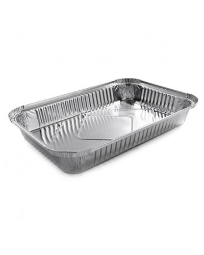 Vaschette Alluminio per Alimenti 6 Porzioni L 31,8x21,4x4 cm 50 pz