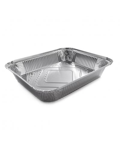 Vaschette Alluminio per Alimenti 8 Porzioni L 32x26x5 cm 50 pz