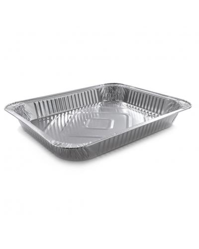 Vaschette Alluminio per Alimenti 8 Porzioni G 32x26x4 cm 50 pz