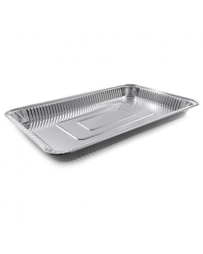 Vaschetta Alluminio per Alimenti 16 Porzioni G Bassa 52,5x32,5x4 cm
