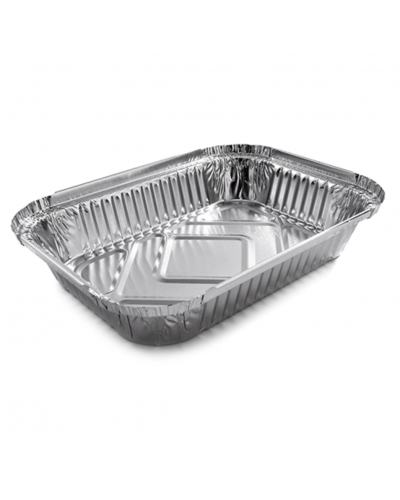 Vaschette Alluminio per Alimenti 3 Porzioni L 19x14x3 cm 100 pz