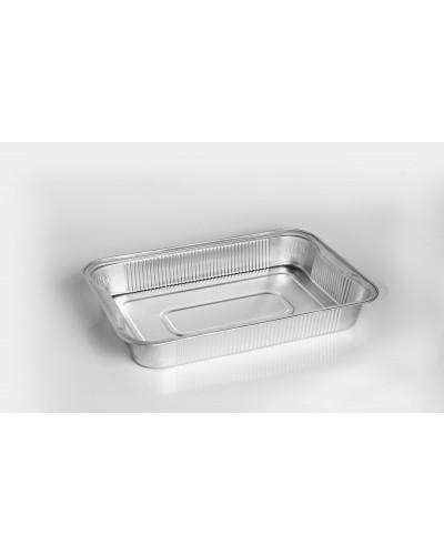 Vaschetta Alluminio Per Alimenti 6 Porzioni G Con Maniglie 100pz Icont