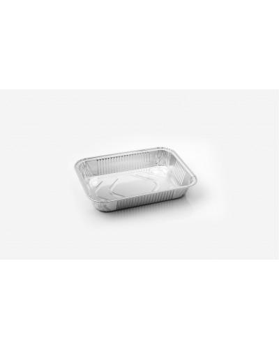 Vaschette Alluminio per Alimenti 3 Porzioni Bassa 19x13x3 cm 100 pz