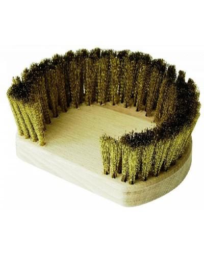 Ricambio Spazzola Forno Tonda con Setole in Ottone 17x15 cm Gi.Metal