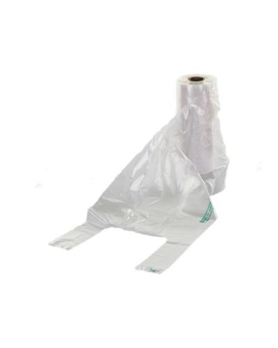 Shoppers Trasparenti Con Maniglie in HD da 23x12x60 cm 200 pz Dinamic