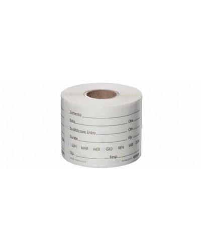 Etichetta Dissolvibile Neutra per Etichettare Alimenti 5x7,5 cm 250 pz