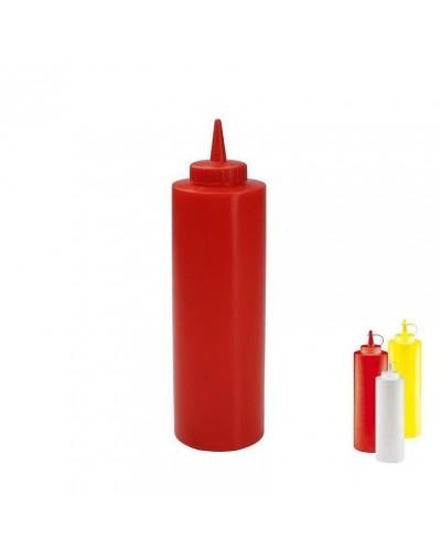 Flacone Dosatore Rosso 0,36 cl | Squeeze Bottle per Salse e Olio