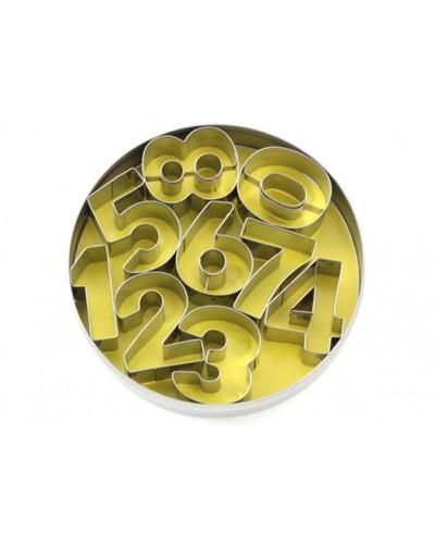 Set Tagliabiscotti Numeri 0 - 8 Acciaio Inox Eva