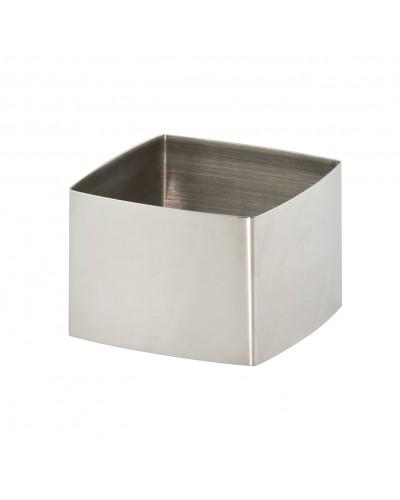 Set 2 Coppapasta Quadro 6x6 Cm H. 4,5 cm Acciaio Inox Ilsa