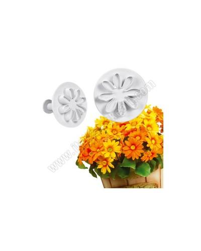 Kit 2 Stantuffi Fiore Daisy Margherita per Cake Design Martellato
