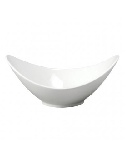 Ciotola Porcellana Ovale Bianca 21 cm