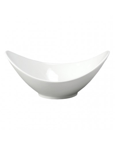 Ciotola Porcellana Ovale Bianca 32 cm