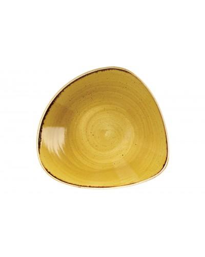 Piatto Fondo Triangolare Stonecast Senape Porcellana 23,5 cm Churchill