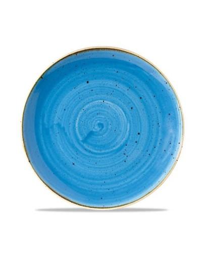 Piatto Piano Stonecast Blu in Porcellana Ø 22 cm Churchill