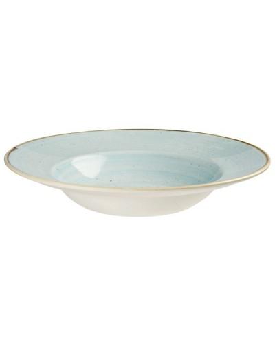 Piatto Pasta Stonecast Azzurro in Porcellana Ø 24 cm Churchill