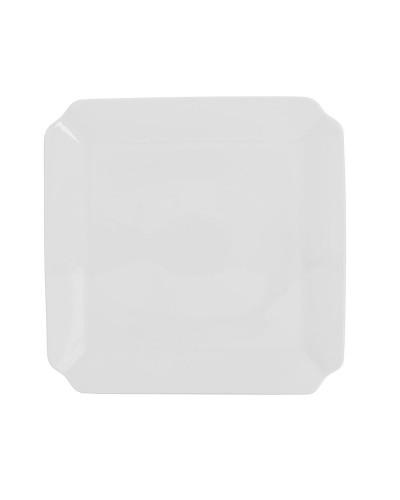 Piatto Dessert Napoli Bianco in Porcellana 15x15 cm Gural