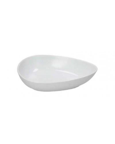Coppa Ovale Gourmet Bianca in Porcellana 22x15 cm Tognana