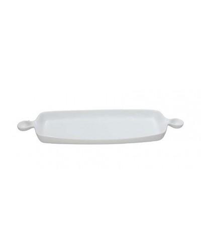 Piatto Gourmet Rettangolare Bianco in Porcellana 47x15 cm Tognana