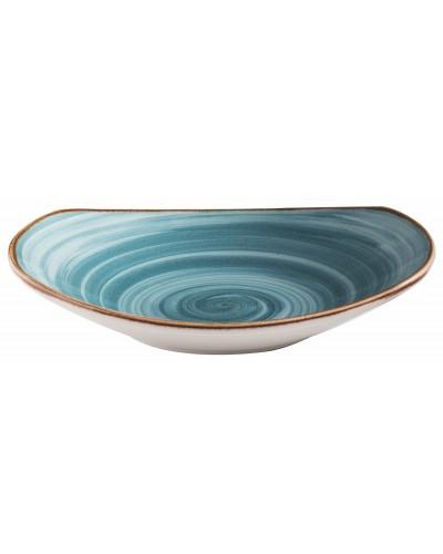 Piatto Fondo Rettangolare Artisan Azzurro in Porcellana 20 cm Corona