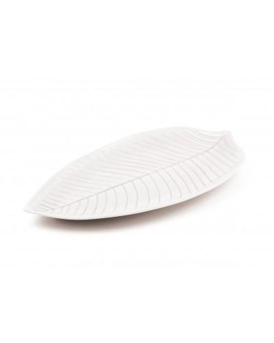 Piatto Foglia Bianco in Melamina 36x36 cm Sambonet Paderno