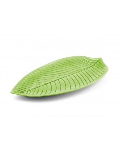 Piatto Foglia Verde 45x24 cm
