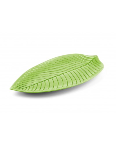 Piatto Foglia Verde in Melamina 45x24 cm Sambonet Paderno