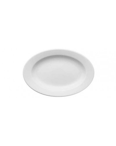 Vassoio Ovale Bianco in Porcellana 38 cm Lubiana