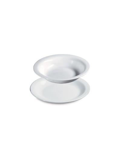Piatto Fondo Bianco in Polipropilene Ø 22 cm Giganplast