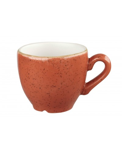Tazza Caffè Stonecast Arancio Mattone 10 cl in Porcellana Churchill
