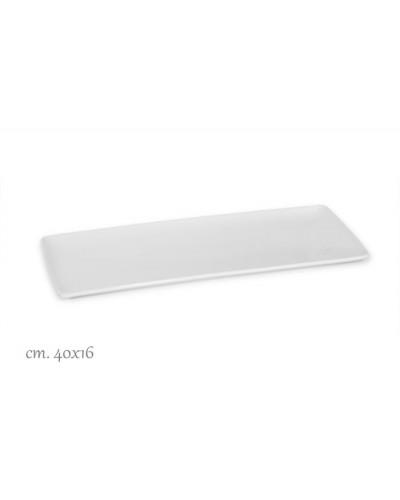 Vassoio Rettangolare Purity Bianco Porcellana 40x16 cm Le Nouveau Coq