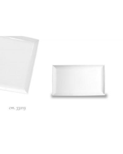 Vassoio Purity Bianco Rettangolare Porcellana 33x19 cm Le Nouveau Coq