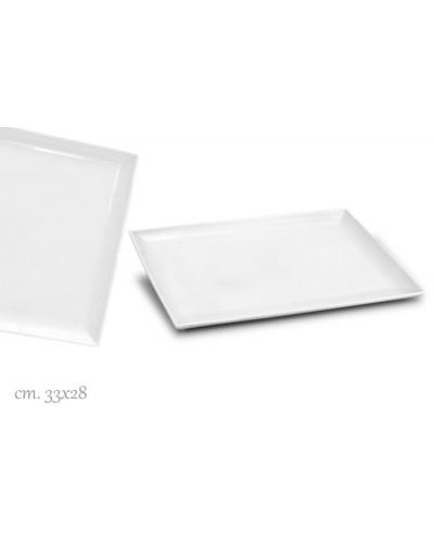 Vassoio Purity Bianco Rettangolare Porcellana 33x28 cm Le Nouveau Coq