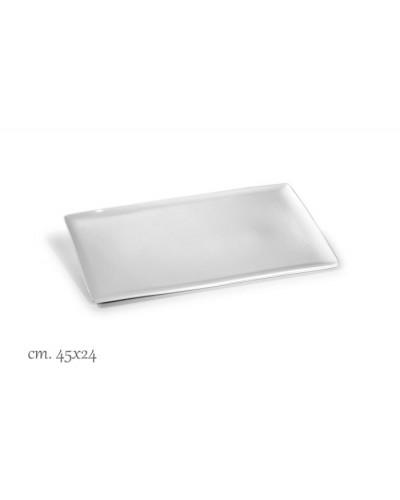 Vassoio Purity Bianco Rettangolare Porcellana 45x24 cm Le Nouveau Coq