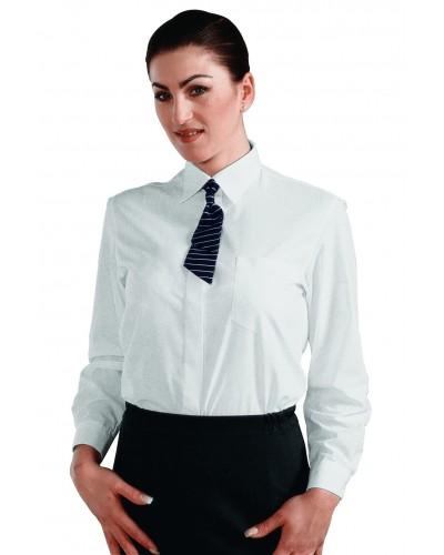 Camicia Donna Bianca in Misto Cotone Tg. XS - XXL Isacco