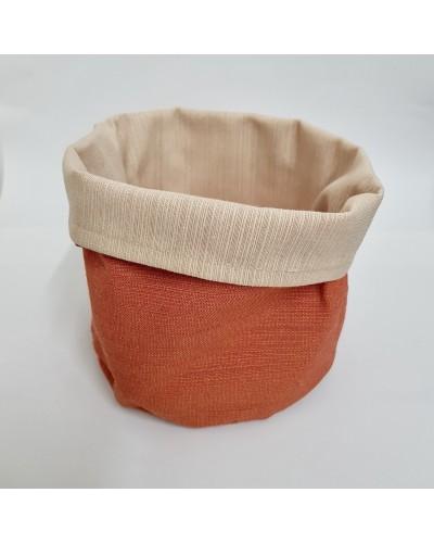 Cestino Portapane Aurora Arancione/Beige in Cotone