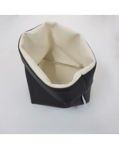 Cestino Portapane Tondo in Ecopelle Marrone 14 cm Yegam